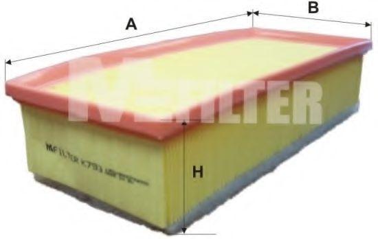 Фильтр воздушный MFILTER K793