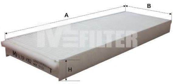 Фильтр салона MFILTER K952