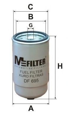 Фильтр топливный MFILTER DF 695