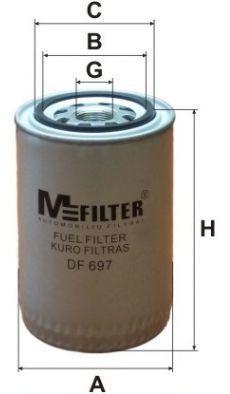 Фильтр топливный MFILTER DF697