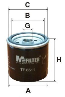 Фильтр масляный MFILTER TF6511