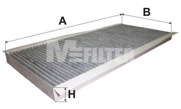 Фильтр салона угольный MFILTER K9073C