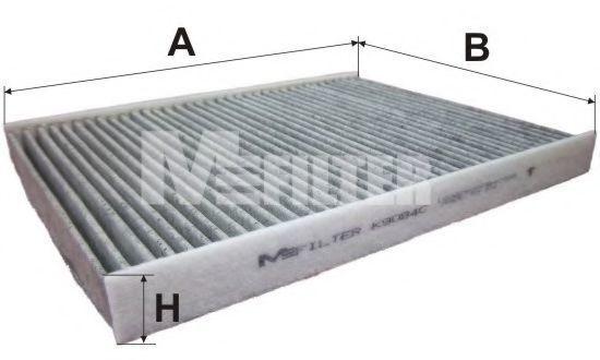 Фильтр салона угольный MFILTER K9084C