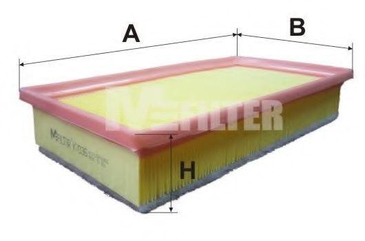 Фильтр воздушный MFILTER K7036