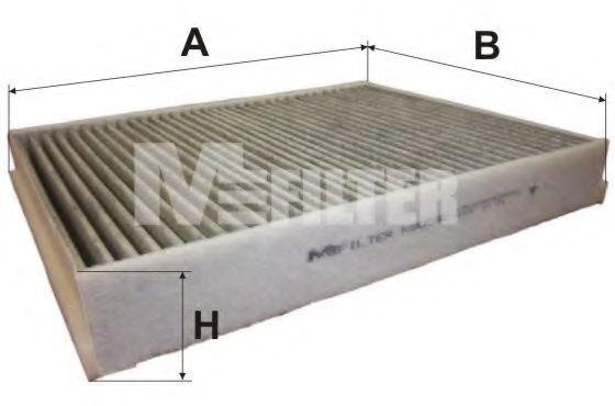 Фильтр салона угольный MFILTER K9095C