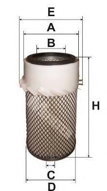 Фильтр воздушный MFILTER A835