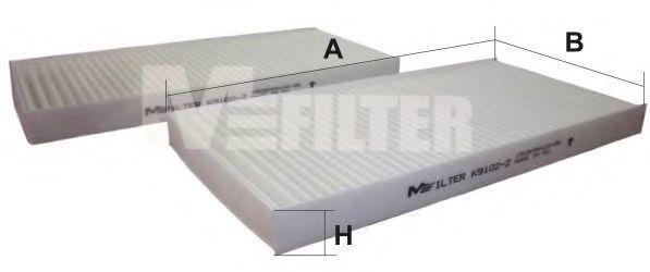 Фильтр салона MFILTER K 9102-2