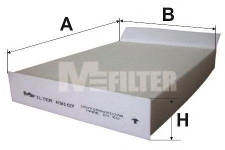 Фильтр салона MFILTER K 9107