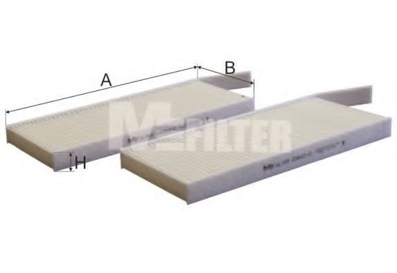Фильтр салона комплект 2шт. MFILTER K 9042-2