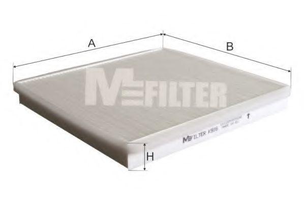 Фильтр салона MFILTER K 916