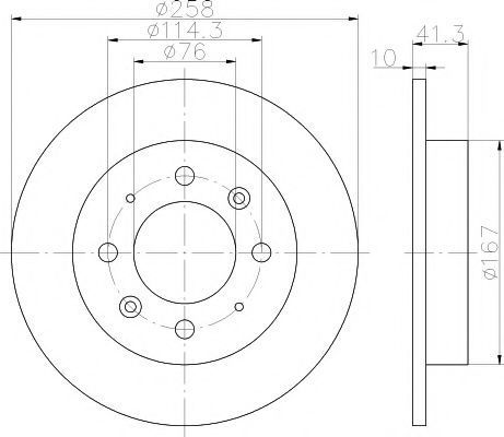 Диск тормозной HELLA PAGID 8DD355111451