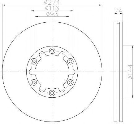 Тормозной диск HELLA PAGID 8DD355111741