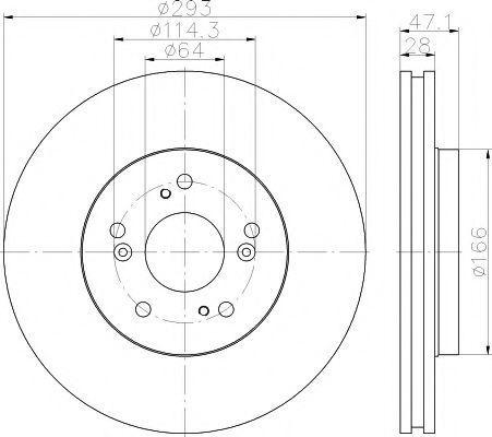 Диск тормозной HELLA PAGID 8DD 355 115-941