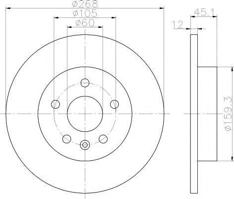 Диск тормозной HELLA PAGID 8DD355116581