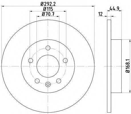 Диск тормозной HELLA PAGID 8DD355116601