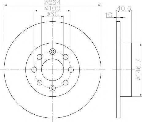 Диск тормозной HELLA PAGID 8DD355112621