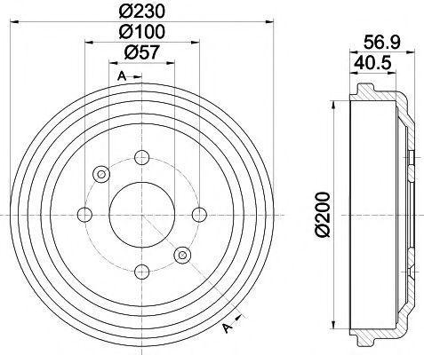 Тормозной барабан HELLA PAGID 8DT355300961