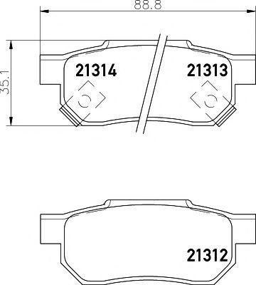 Колодки тормозные HELLA PAGID 8DB355005731