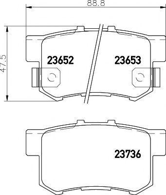 Колодки тормозные HELLA PAGID 8DB 355 009-581