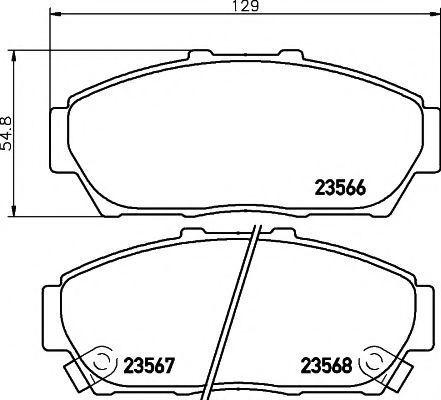 Комплект тормозных колодок, дисковый тормоз HELLA PAGID 8DB355009981