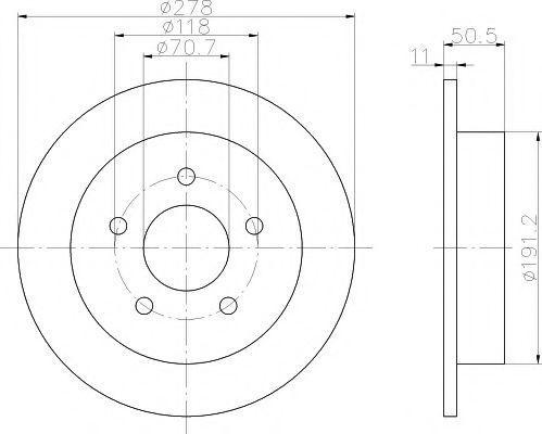 Тормозной диск HELLA PAGID 8DD355106961