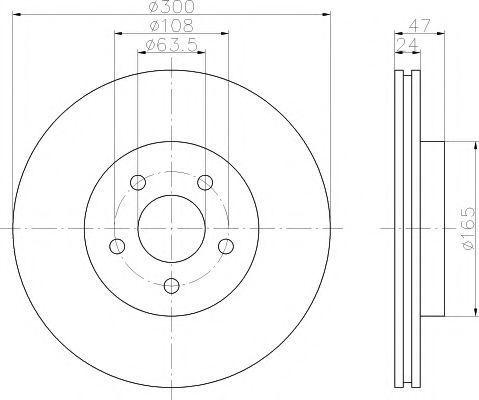 Диск тормозной HELLA PAGID 8DD355108041