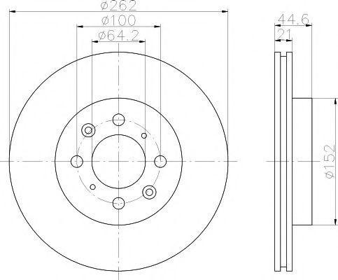 Тормозной диск HELLA PAGID 8DD355103121