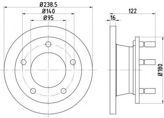 Тормозной диск HELLA PAGID 8DD355101471
