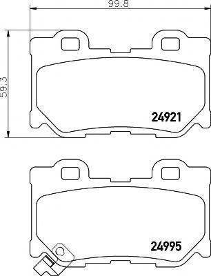 Колодки тормозные HELLA PAGID 8DB355015421