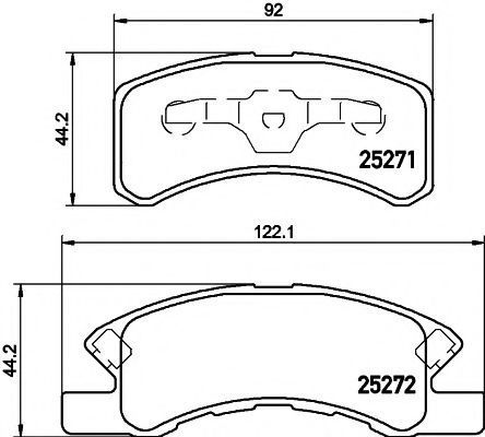 Комплект тормозных колодок, дисковый тормоз HELLA PAGID 8DB355016211