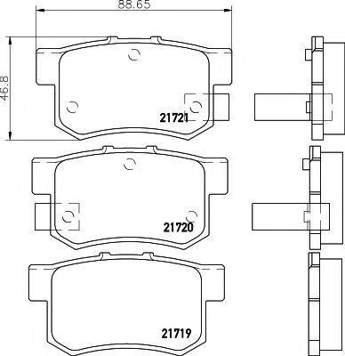 Колодки тормозные HELLA PAGID 8DB355016451