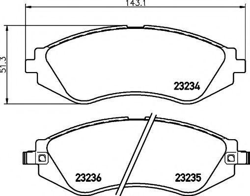 Колодки тормозные HELLA PAGID 8DB355017141