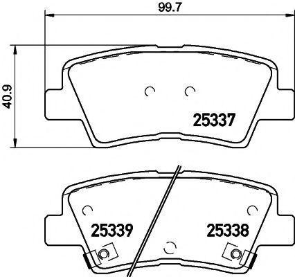 Колодки тормозные HELLA PAGID 8DB355019981