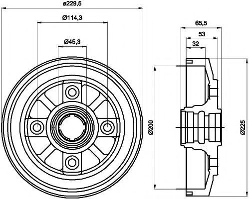 Тормозной барабан HELLA PAGID 8DT355302281