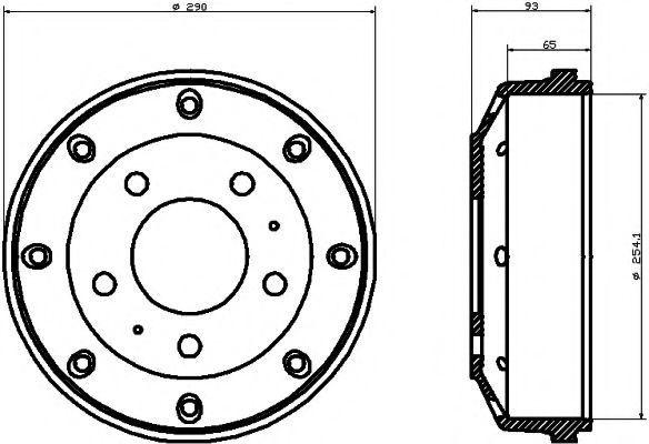Тормозной барабан HELLA PAGID 8DT355301971