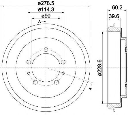 Тормозной барабан HELLA PAGID 8DT355302431