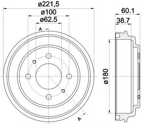 Тормозной барабан HELLA PAGID 8DT355302451