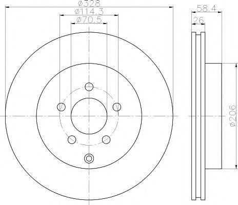 Тормозной диск HELLA PAGID 8DD355120031