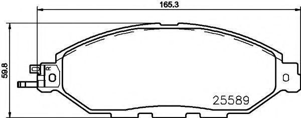 Комплект тормозных колодок, дисковый тормоз HELLA PAGID 8DB355021711