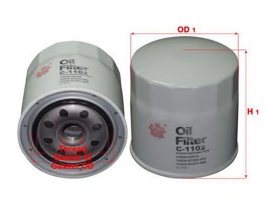 Фильтр масляный SAKURA C1102