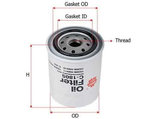 Фильтр масляный SAKURA C1805