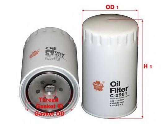 Фильтр масляный SAKURA C2901  - купить со скидкой