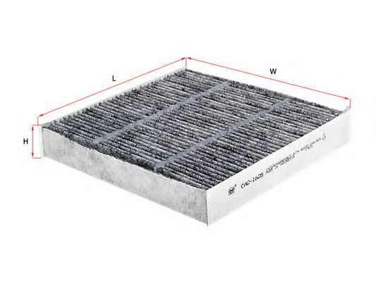 Фильтр салона угольный SAKURA CAC-1605