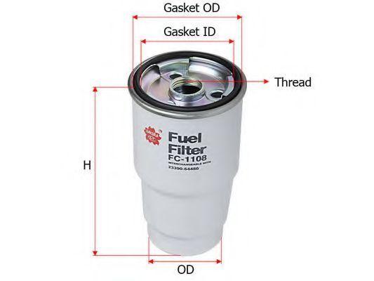 Фильтр топливный SAKURA FC1108