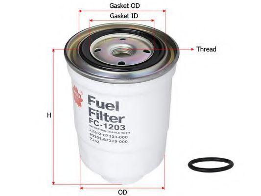 Фильтр топливный SAKURA FC1203