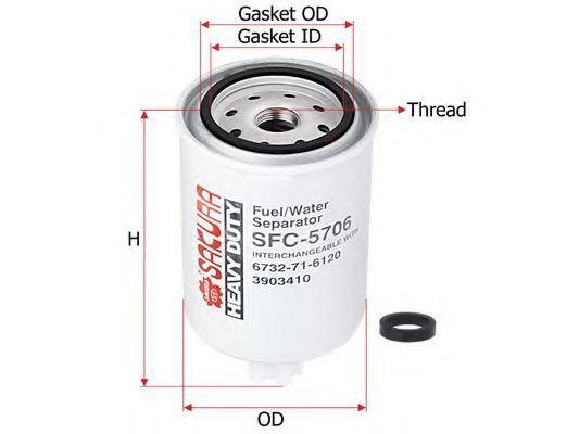 Купить Фильтр топливный SAKURA SFC5706