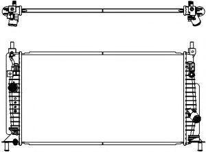 Радиатор охлаждения SAKURA 3301-8505