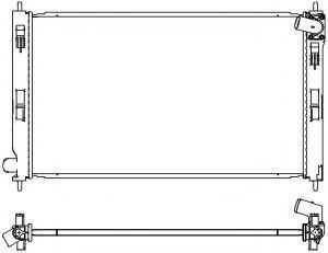 Радиатор охлаждения SAKURA 3321-8503