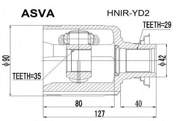 Шарнирный комплект, приводной вал ASVA HNIRYD2
