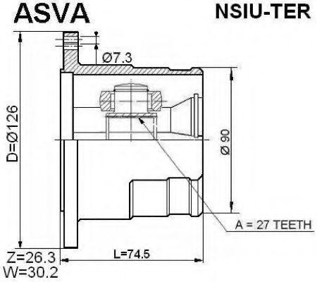 Шарнирный комплект, приводной вал ASVA NSIUTER